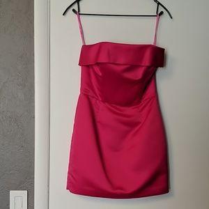 Betsey Johnson hot pink mini dress